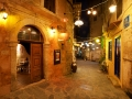 The old city of Chania by night