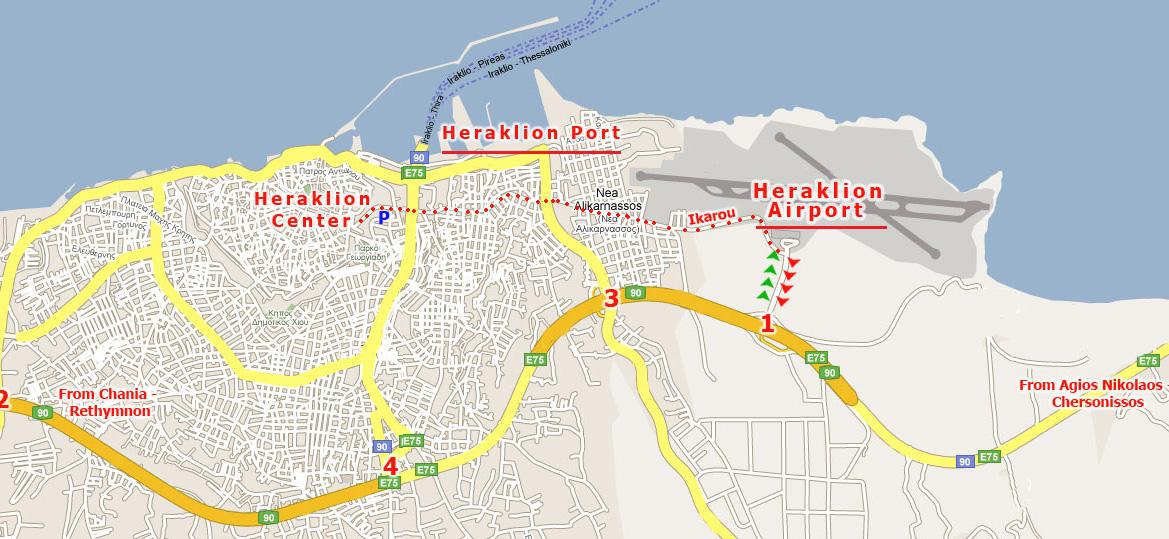 Heraklion Maps