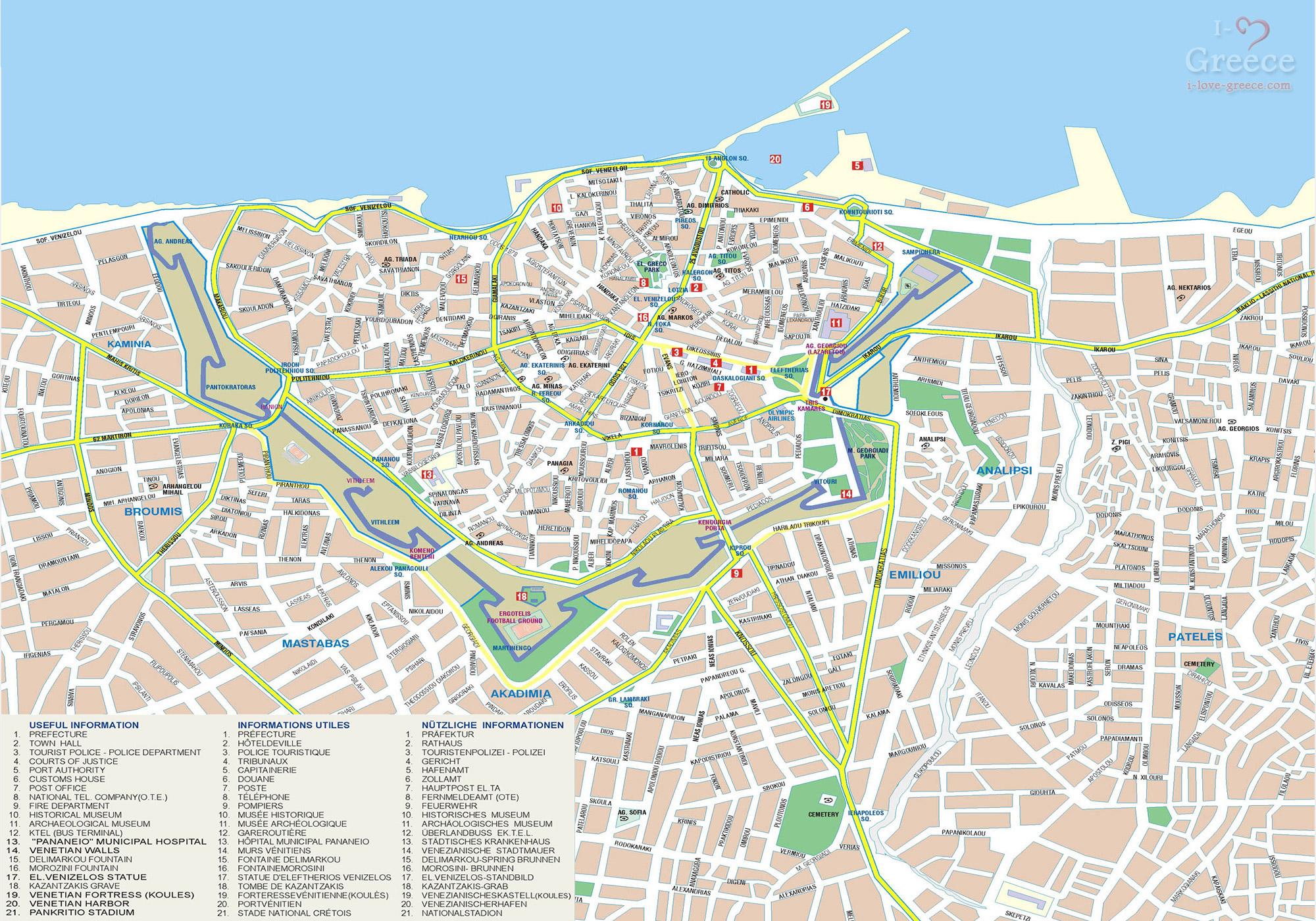 Χάρτης Πόλης Ηρακλείου